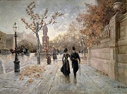 A walk along Maximilian Street in Munich, by Collard, Germany.  Monaco, Munchner Stadtmuseum (City Museum)