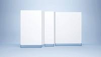 blank white banner, 3d render