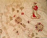 Cartography, 16th century. The Holy Land. From the Portolano by Francesco Oliva, 1566.  Venice, Museo Correr (Art Museum)