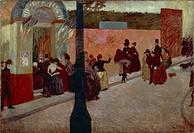 Moulin de la Galette, 1878, by Federico Zandomeneghi (1841-1917), oil on canvas, 80x120 cm.  Private Collection