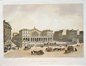 France, 19th century. Paris. East Railway Station (Gare de l'Est). Engraving from Paris dans sa splendeur, by Charpentier, Paris, 1865.  Compiegne, Mu...