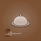 Vector illustration of restaurant menu in brown color