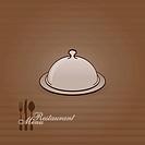 Vector illustration of restaurant menu in brown color
