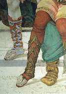 St Philip the Apostle in front of the Temple of Mars in Hierapolis, 1502, by Filippino Lippi (1457-1504), fresco. Detail. Filippo Strozzi Chapel, Chur...
