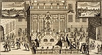 The Stock Exchange in Leipzig, 1679, Germany 17th Century. Print.