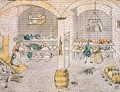 Provisions storehouses, Germany 18th Century