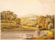 Pool near Koblenz, Germany 18th Century. Print.