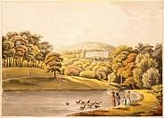 Pool near Koblenz, Germany 18th Century. Print.