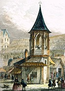 Pillory, Paris, France 19th century Print