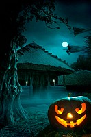 design background for a party on Halloween night