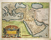 Cartography, 16th century. Map of Turkey. From Theatrum Orbis Terrarum by Abraham Ortelius (1528-1598), Antwerp, 1570.