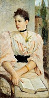 Portrait of Paola Bandini, 1893, by Silvestro Lega 1826_1895