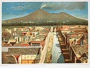 Italy, Pompeii, View of insula by Fausto and Felice Niccolini, Volume IV, Supplement, Table XL