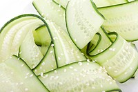 Japanese cucumber salad with rice vinegar and sesame seeds.
