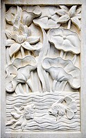 Traditional stone carving in sandstone, Bali, Indonesia