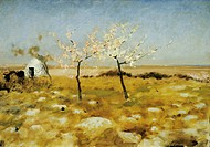 Spring, 1883 by Giuseppe de Nittis (1846-1884), oil on canvas, 65x92 cm.  Barletta, Museo Civico E Pinacoteca 'G. De Nittis' (Archaeological, Historic...