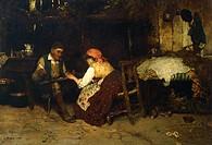 Letter to the boyfriend, Luigi Nono (1850-1918).  Lugo Di Vicenza, Villa Godi Malinverni