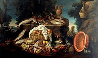 Still Life, by Felice Boselli (1650-1731).  Fontanellato, Museo Rocca Sanvitale (Art Museum)