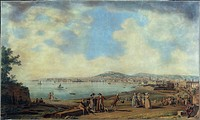 Giovanni Battista Lusieri (about 1755-1821). Naples from Magdalene Bridge, 1791. Watercolor on paper, 56x93 cm.  Naples, Fondazione Maurizio E Isabell...