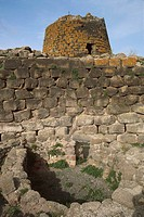 Italy - Sardinia Region - Torralba, province of Sassari - Archaeological complex of Nuraghe Sant'Antine or Sa domo de su Re (the king's house). Tower ...