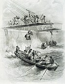 Disembarking at Saint Denis, Bourbon Island (modern day Reunion Island), 19th Century.  Paris, Bibliothèque Des Arts Decoratifs (Library)