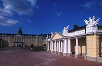 Germany - Baden-Wurttemberg - Upper Middle Rhine Valley (UNESCO World Heritage List, 2002). Karlsruhe castle.