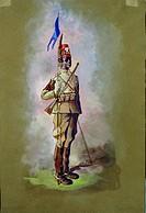 Militaria, Italy, 19th century. Uniform of Eritrean cavalry squadrons Penne di Falco.  Pinerolo, Museo Storico Dell'Arma Di Cavalleria (Troops Museum)