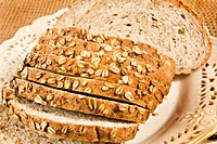 Healthy whole wheat bread in slices