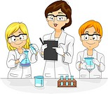 Illustration of Kids Conducting an Experiment _ eps8