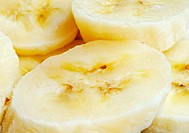 Photo of banana slices, close_up
