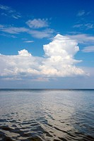 Cloudy sky above a sea