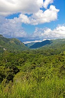 View of the Sierra of Escambray, Cienfuegos Province, Cuba