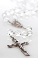 Antique crystal rosary