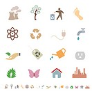 Environment and eco friendly icon set. Image contains gradients_ EPS8.