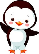 Fun zoo. Illustration of cute Penguin