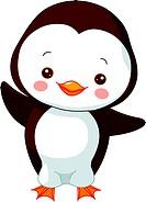 Fun zoo. Illustration of cute Penguin