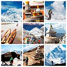 Nepal travel collage