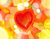 Beautiful valentine background with nice red heart