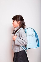 Young Asian Student ready to go to school