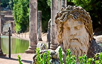 Villa Adriana in Tivoli _ Italy. Example of classic beauty in a roman villa.