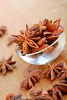 Bowl of star anise, beautiful star shaped pod.