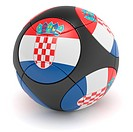 Soccer match ball of the 2012 European Championship with the flag of Croatia _ clipping path included