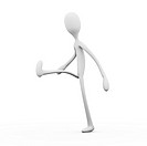3D rendered Illustration. Cartoon figure Isolated on white.