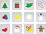 Various Christmas Icon Patches