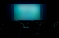 blank cinema screen for your message to place on