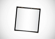 Blank photo film, people can add picture in