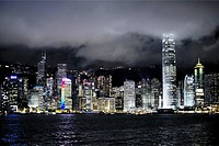 View of Hong Kong island and Central District, China