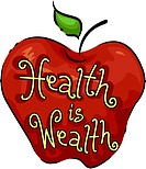 Icon Illustration Representing Health is Wealth _ eps8