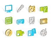 Media equipment icons _ vector icon set