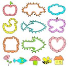 illustration of cute frame in different shape for kids